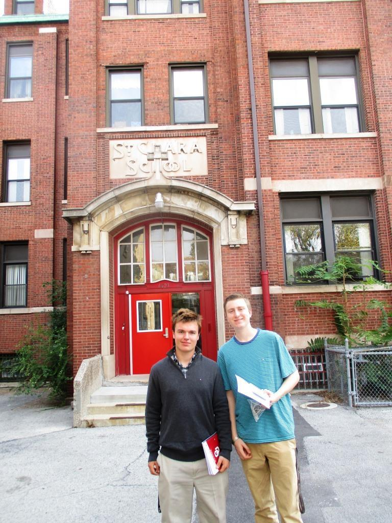 Student Editors Conor Langs and Jack Lockard felt privileged to meet some residents of the St. Martin de Porres House of Hope.