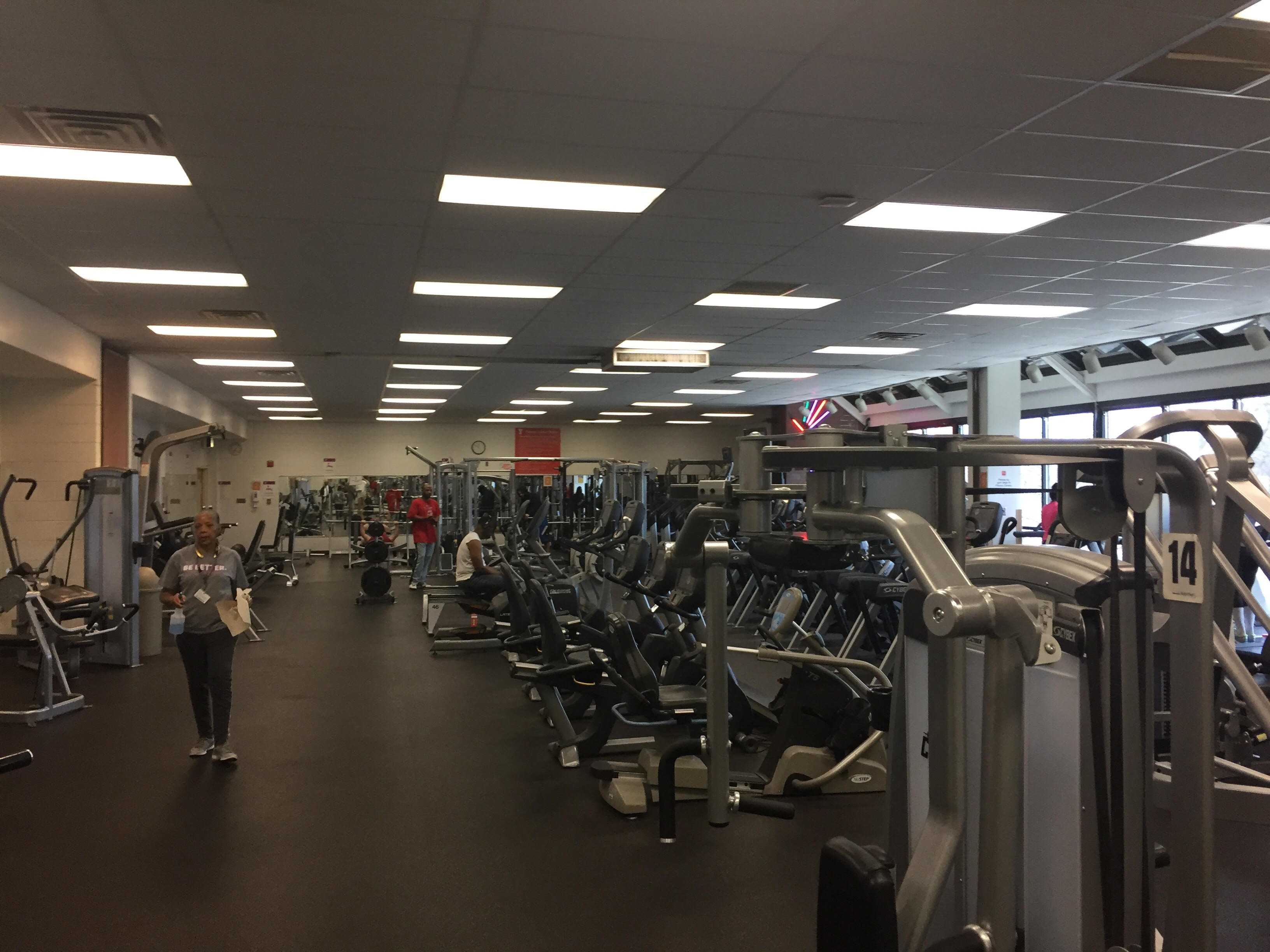Among its many facilities, the South Side YMCA offers a well-equipped weight training room.