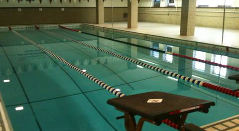 Mount Carmel swimming pool in the basement of the school