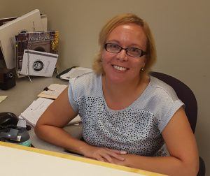 Mrs. Rebecca Kohn brings a friendly new face to Mount Carmel's Advancement Office.