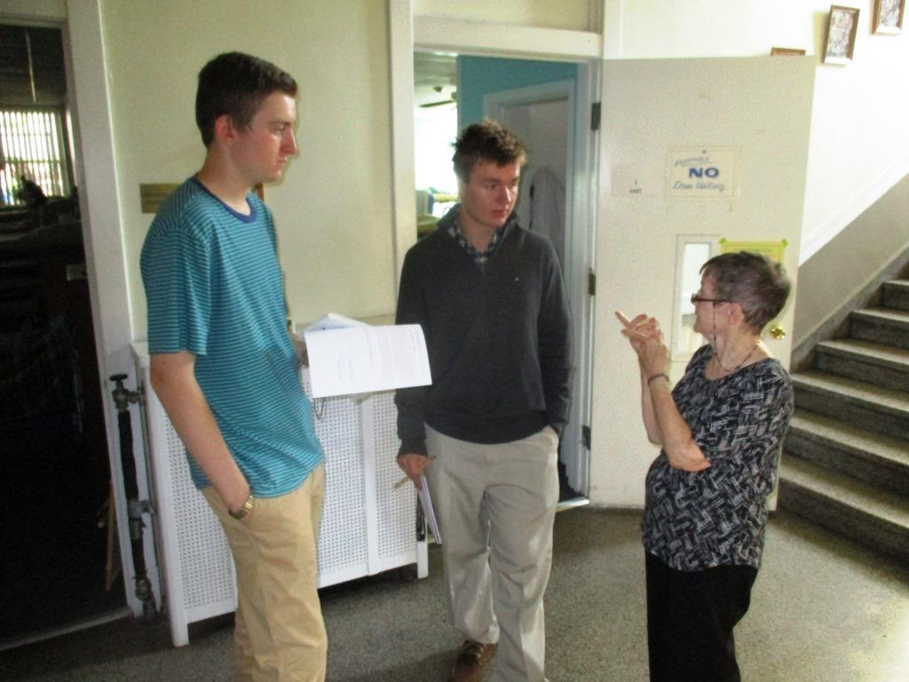 Sister Therese O'Sullivan spoke with Caravan reporters  Conor Langs '17 and Jack Lockard '17 about her ministry at the House of Hope.
