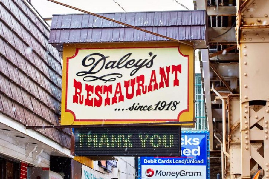 Daley%27s+was+started+in+1892+and+new+owners+took+over+in+1918%2C+hence+the+%22since+1918+signage.%28Photo+from+Chicago.eater.com%29
