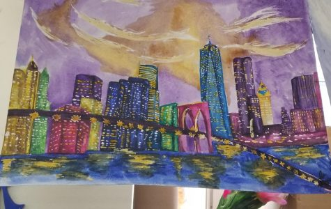 Advanced Art class brings far-away cities to Carmel in bombastic color
