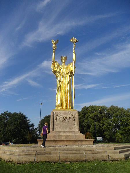 The Statue of the Republic, located in Woodlawn's Jackson Park.