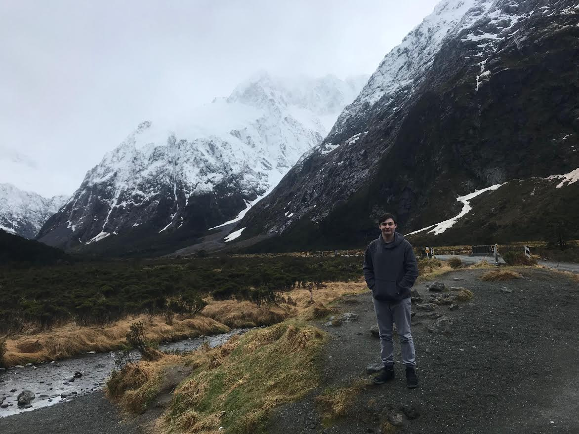 After five weeks in Japan, freshman Edison Berisha also traveled in New Zealand.