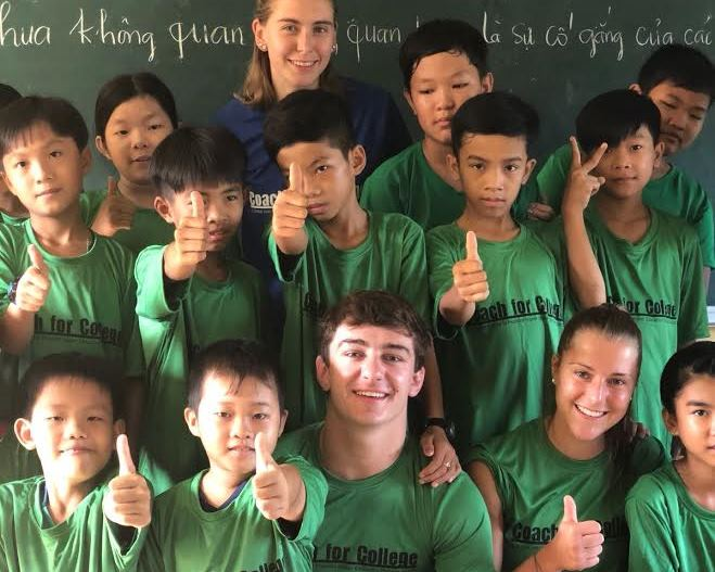 Dillon+Hoey+%2717+spent+this+past+summer+coaching+baseball+and+tutoring+in+Vietnam.
