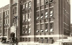 The name above the entry when the school was completed in 1924 was St. Cyril.