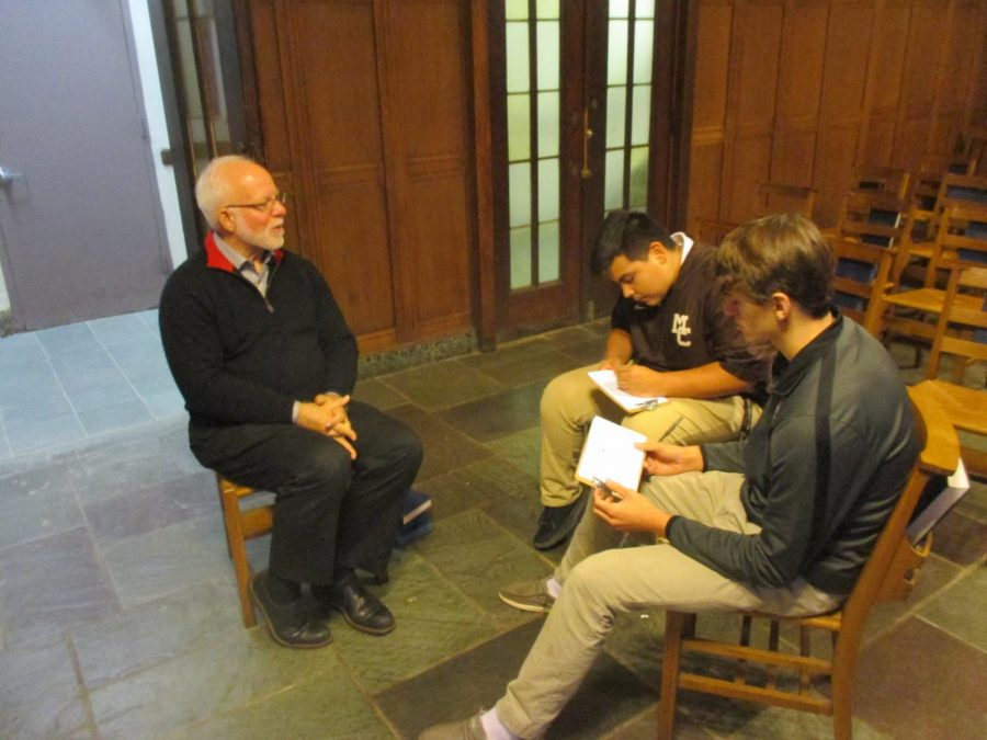 Pastor David Boumgarden speaks to Matt Martinez and Miles Hoey about the First Presbyterian Church.