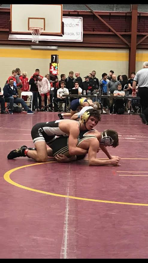 Junior+Colton+Drousias+led+the+charge+for+the+varsity+wrestling+team+with+an+8th+place+finish+at+the+Walsh+Ironman+in+Ohio.+%28Photo+courtesy+of+Mike+Drousias%29