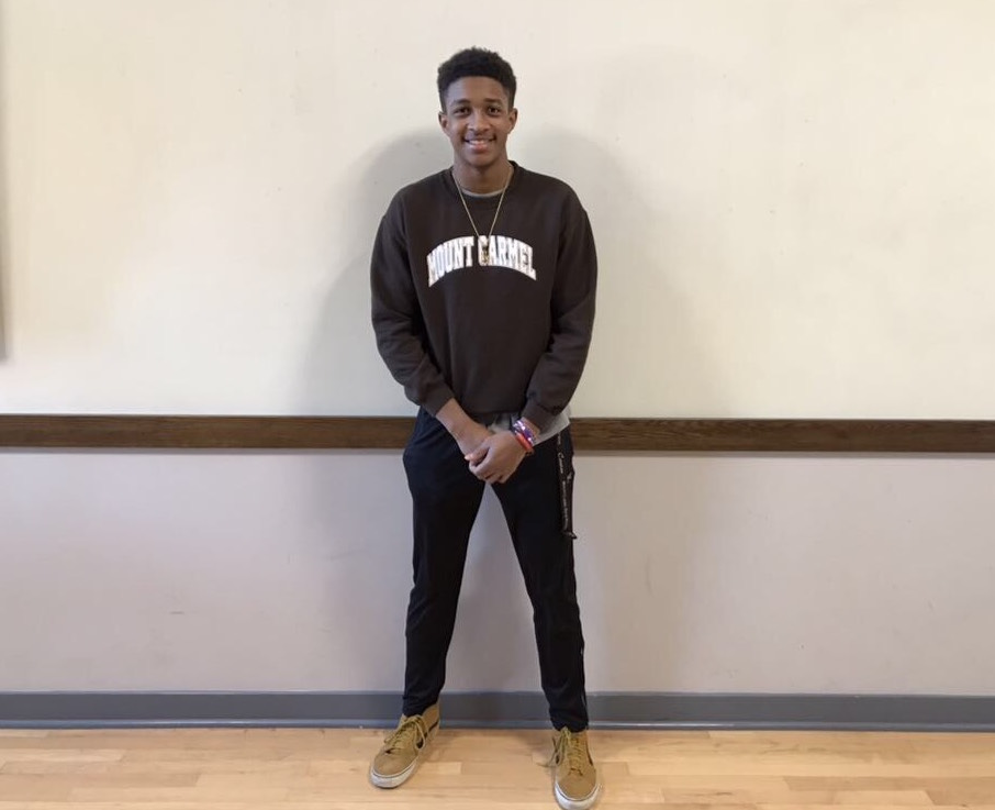 Jerrit Payton is finally smiling, after the stress of applying to over 40 colleges.