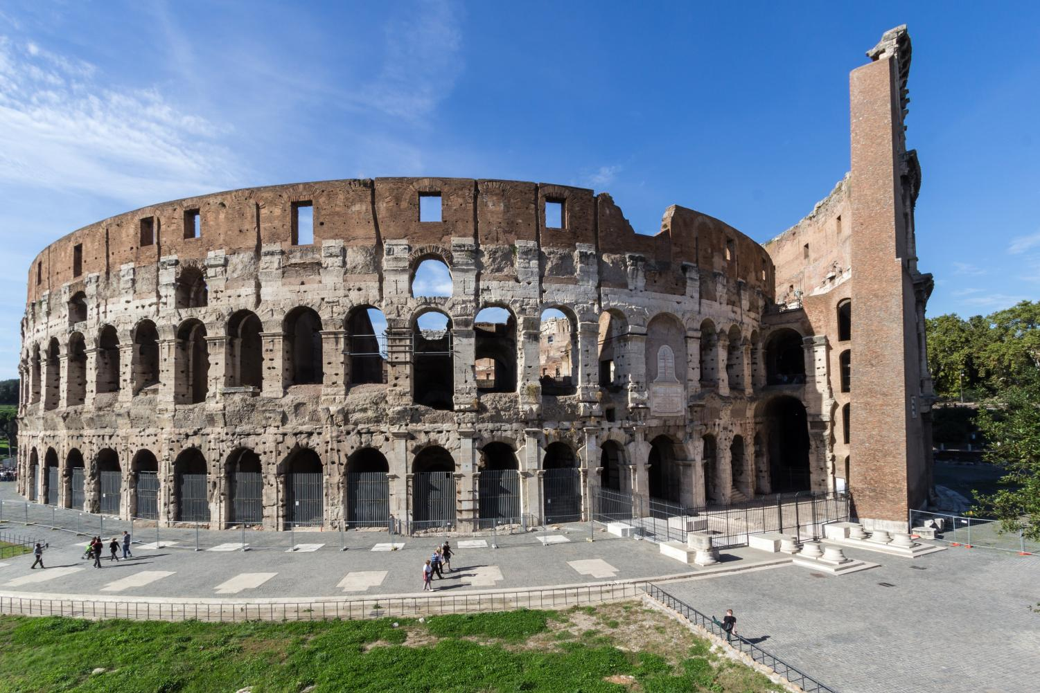 One of the most iconic buildings in Rome, The Roman Colosseum. 