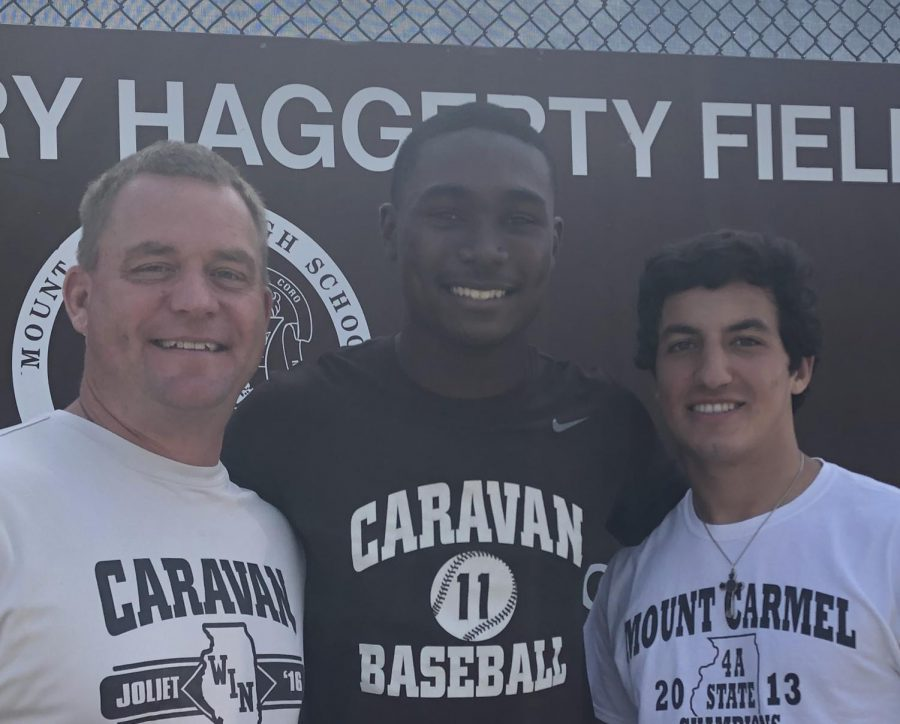 Head Baseball Coach Brian Hurry (left) is looking for ways to maintain the high standards of Caravan baseball, which have given former players like Ed Howard '20 and Tony Livermore '20 (right) a bright future in the game.