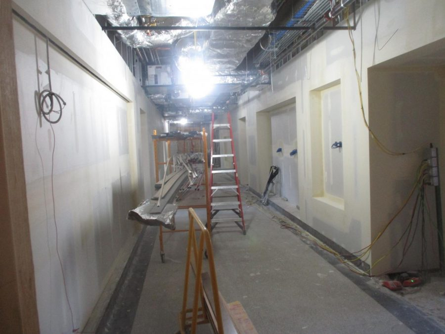 As is visible in this photo,  the 1st floor lockers will be replaced by various displays about MC history.
