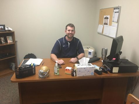 School counselor Mr. Bill Heaney splits his time between the counseling office (pictured above) and the Resource Center.