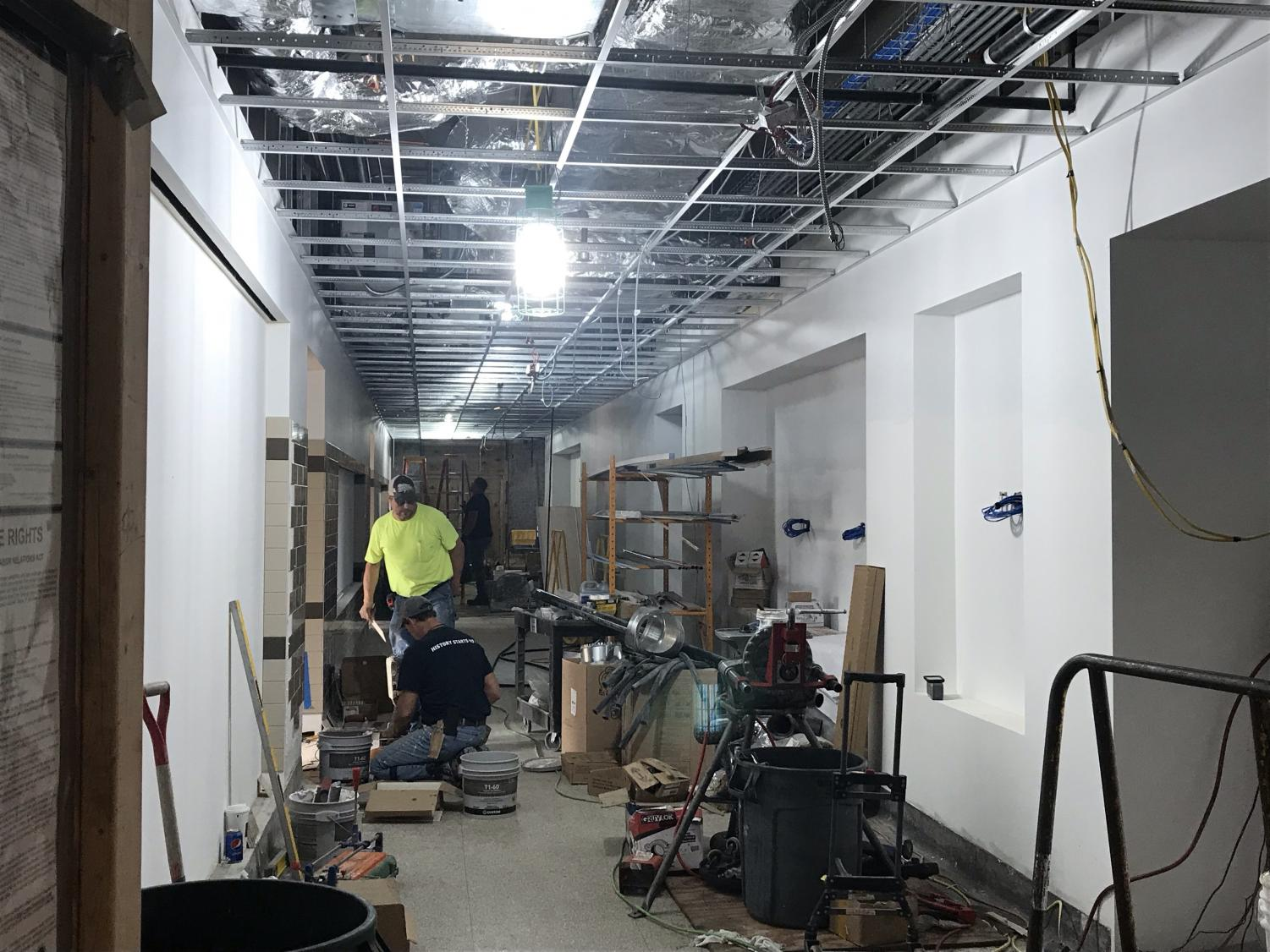 Progress continues on the renovation of the first floor, which is due to be completed by mid October.