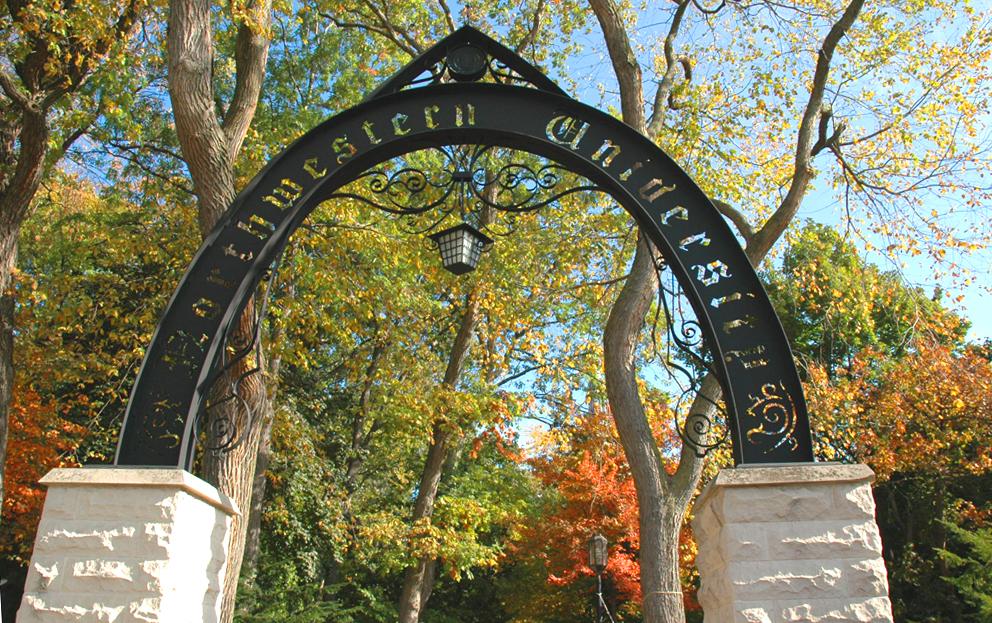 Entrance arch to Northwestern University
