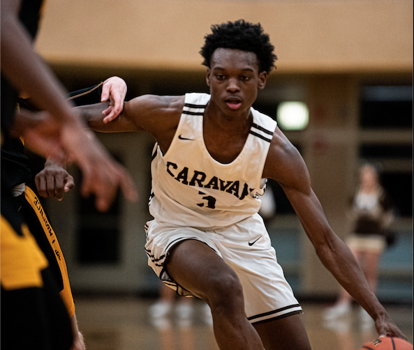 Jadyn Benson and his Caravan teammates will battle the St. Laurence Vikings in an IHSA Regional Semifinal game on Wednesday, March 4.