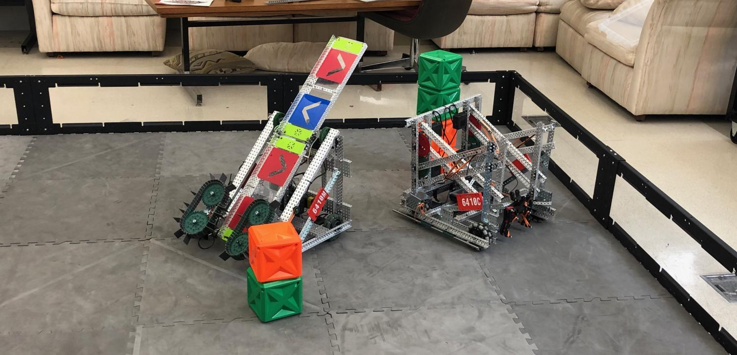 Two of the robots used in the previous competition