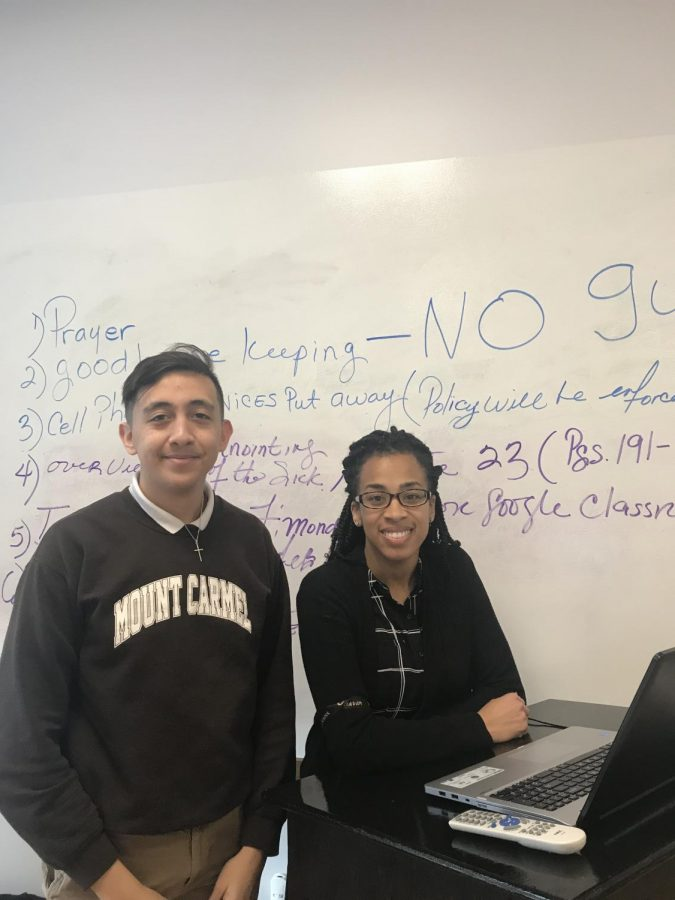 Junior Dylan Guijosa, Moderator Mrs. Shanta' Wheeler, and the Multi-Cultural Club are hosting the annual Diversity Dinner on February 18 at 6:00 p.m.