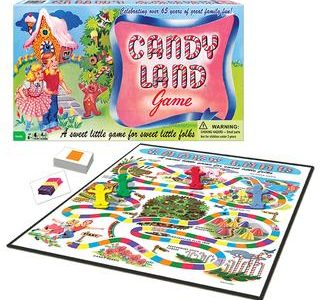 """Here is a picture of one of the games featured """"Candy Land"""