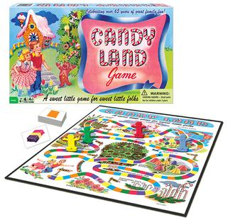 "Here is a picture of one of the games featured ""Candy Land"""