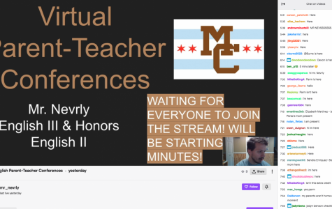 Mr. Neverly using a Twitch stream yesterday to host a