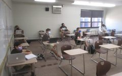 Whenever possible, students attending classes in-person are seated at a safe distance in Mount Carmel's classrooms.