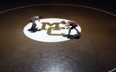 Mount Carmel Wrestling Dual in the Alumni Gym