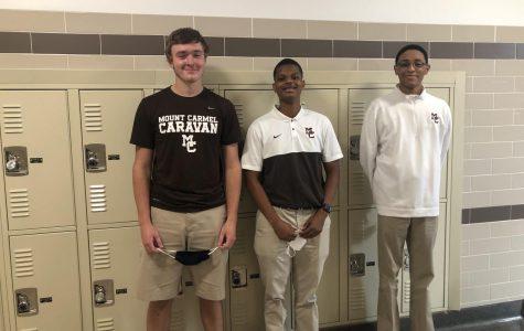 Junior leaders Owen Duignan, Anthony Nicholson, and Devin Jones. Photo by Patrick Hatzis