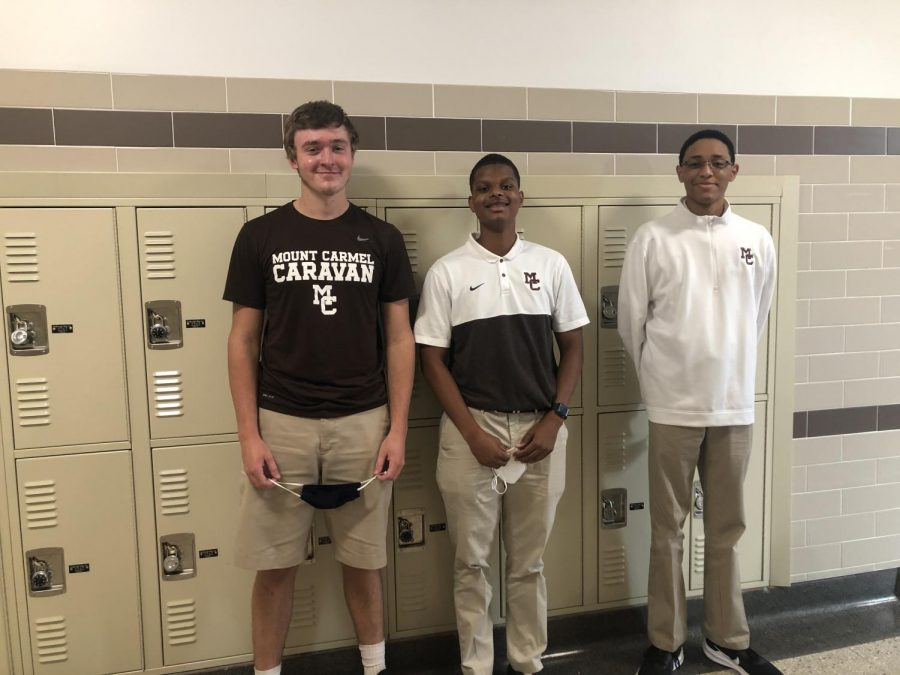 Junior leaders Owen Duignan, Anthony Nicholson, and Devin Jones. Photo by Patrick Hatzis