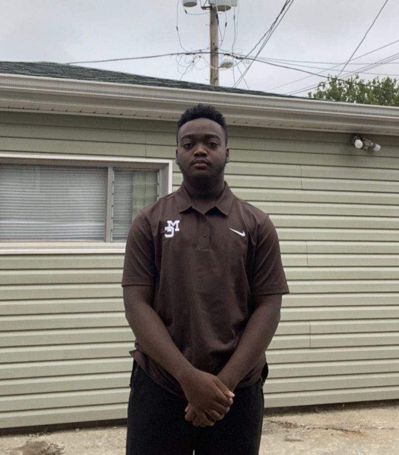 Mount Carmel senior Freddie Gist, like many teens in Chicagoland, lives in fear of the