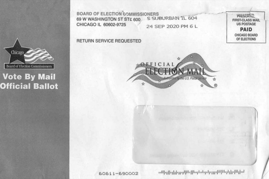 Mail-in ballot Envelope from the Board of Election Commissioners