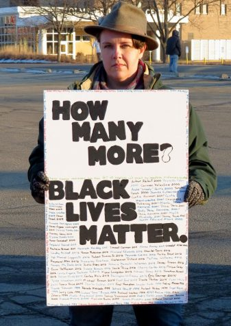 Black Lives Matter protestor from 2016 with a message that still applies.