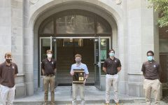 The Caravan golf team showed off their regional championship trophy on October 6, 2020