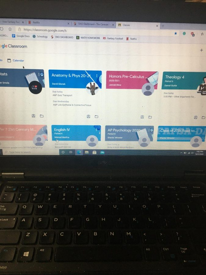 Teacher are using Google Classroom to post assignments to both e-learner and in class students