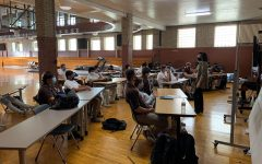 Students spread out and wear masks to allow in-person learning, however, Mount Carmel is still unable to have junior high students come to the school and visit during school days.
