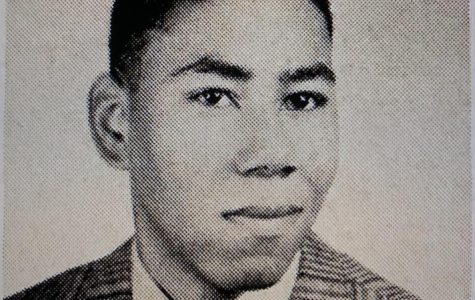 Bush Evans Craig, one of the first African Americans at Mount Carmel, as he appeared in the 1957 Oriflamme Yearbook.