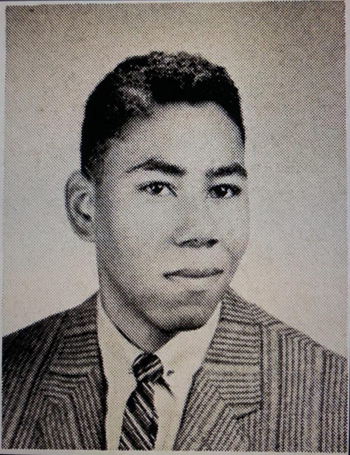 Bush+Evans+Craig%2C+one+of+the+first+African+Americans+at+Mount+Carmel%2C+as+he+appeared+in+the+1957+Oriflamme+Yearbook.