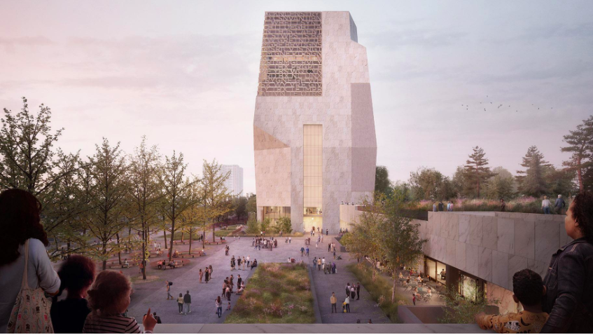Design rendering of the Obama Presidential Center (courtesy of The Obama Foundation)