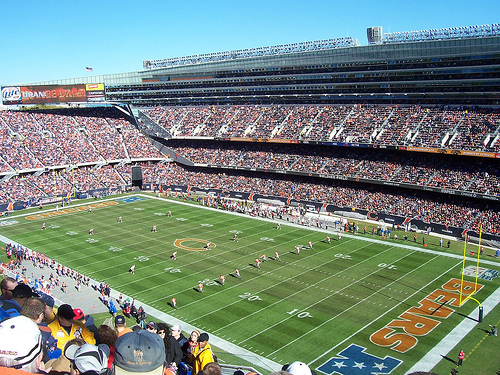 Solider Field(2006) Kickoff Chicago Bears vs San Francisco 49ers