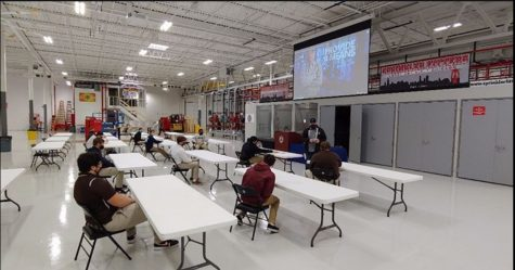 Students interested in working in the trades visited the Chicago Local 281 UA training facility.
