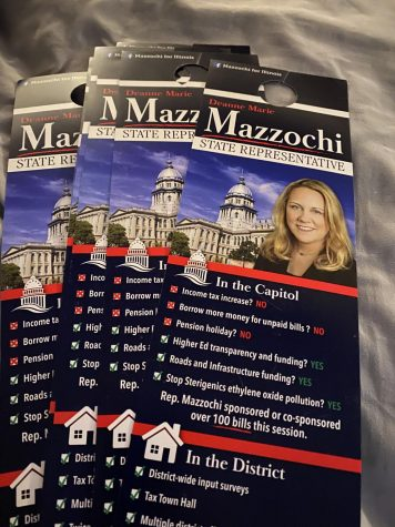 MC senior Ben Fields worked as a pre-election canvasser for Dianne Mazzochi, who was elected as a State Representative from Elmhurst.