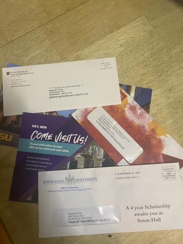 Colleges rely more heavily on mail and Zoom this year to reach applicants.
