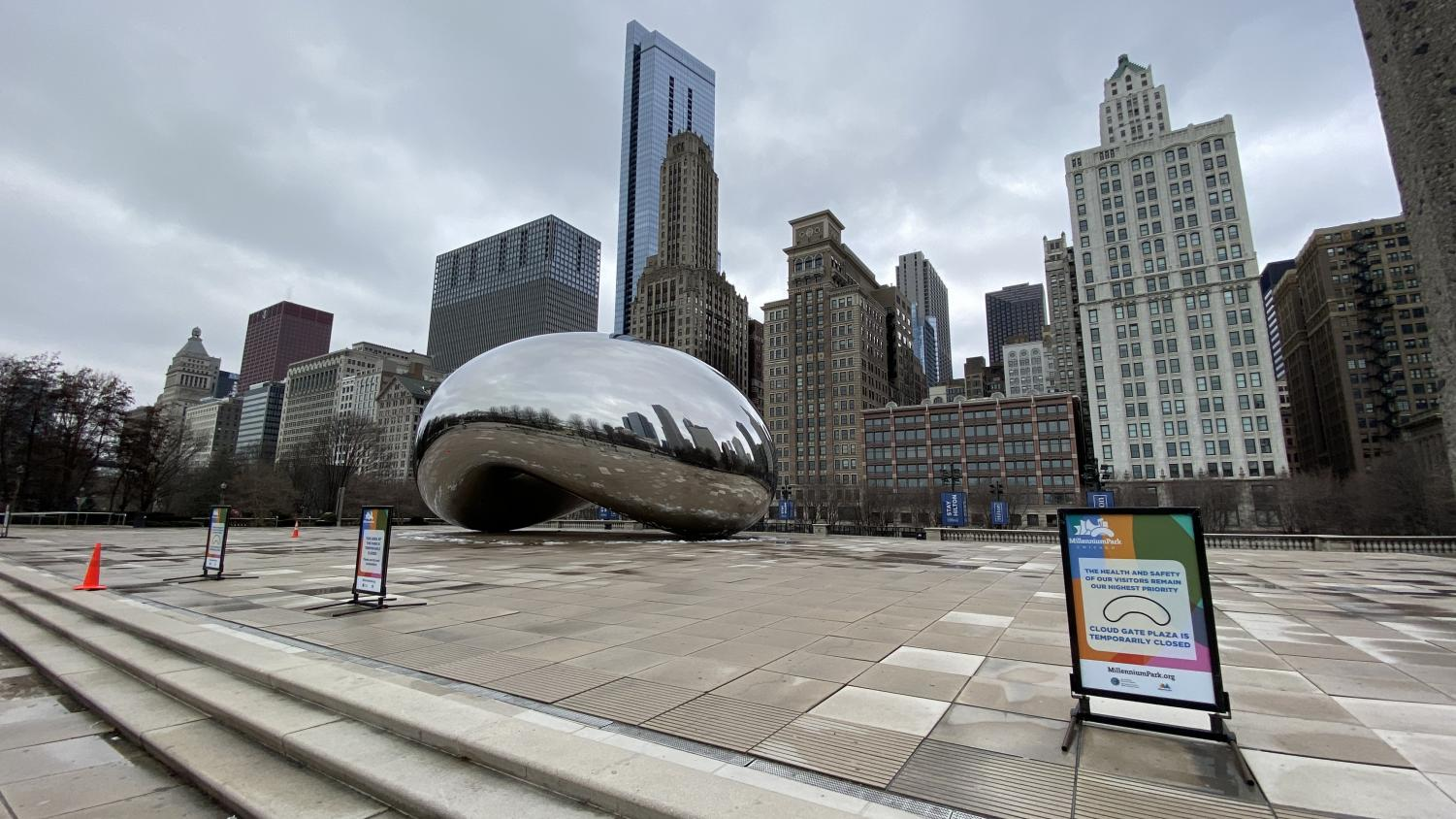 Millennium Park is just one of many great parks that provide a way to get out of the house during COVID-19.  (Photo credit:  Wikimedia Commons under Creative Commons License.)