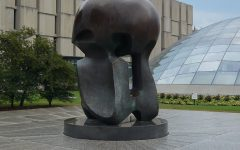 Nuclear Energy, a sculpture by Henry Moore on the campus of the University of Chicago, commemorates the worlds first controlled nuclear reaction.  (Photo via Wikimedia Commons under Creative Commons license)