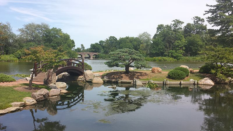 The Japanese  Garden, located on Wooded Island in Jackson Park, offers a quiet refuge in the midst of the city. 