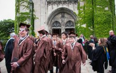 The class of 2019's graduation at Rockefeller Chapel before COVID-19 was known of.