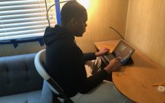 Senior Odera Edeh prefers remote learning from home over in-person learning.