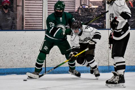 Mount Carmel Hockey Team in a game against Providence This season