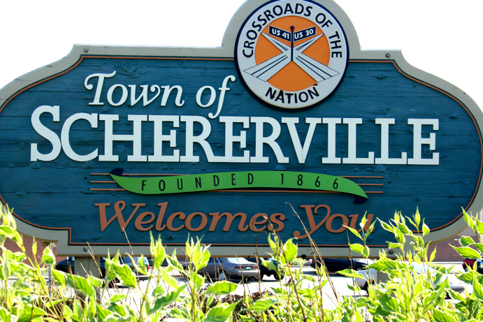 Schererville, Indiana, is just 50 minutes from Chicago, but it